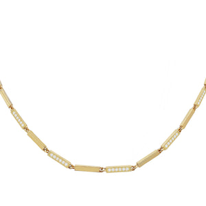 Pavé X Solid Choker Gold - Adina's Jewels