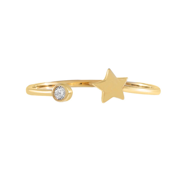 CZ Star Ring 14K - Adina's Jewels