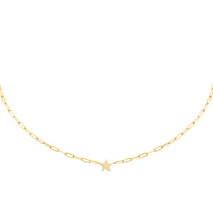 Solid Star Link Choker Gold - Adina's Jewels
