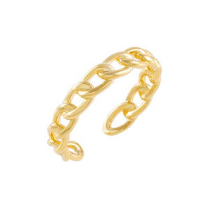 Thin Braided Chain Ring Gold - Adina's Jewels