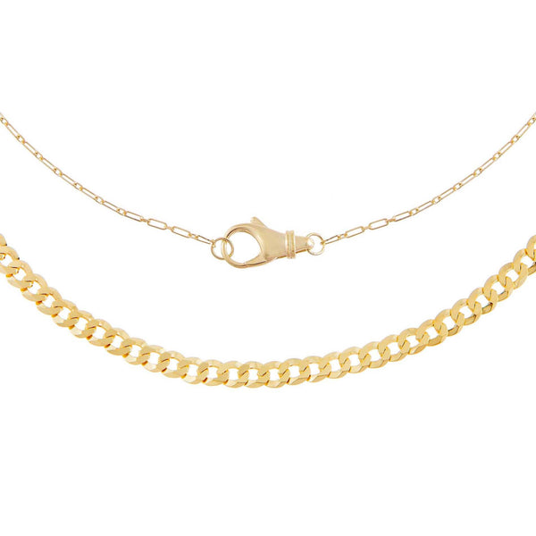 Gold Clasp X Cuban Chain Necklace Combo Set - Adina's Jewels