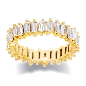 Crystal Eternity Band Gold / 5 - Adina's Jewels