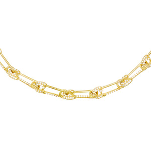 Gold Safety Pin Link Choker - Adina's Jewels