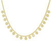 Gold Multi Coin Dangling Choker - Adina's Jewels