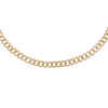 14K Gold Diamond Cuban Chain Choker 14K - Adina's Jewels