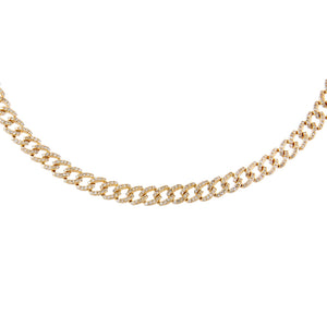 Diamond Cuban Chain Choker 14K 14K Gold - Adina's Jewels