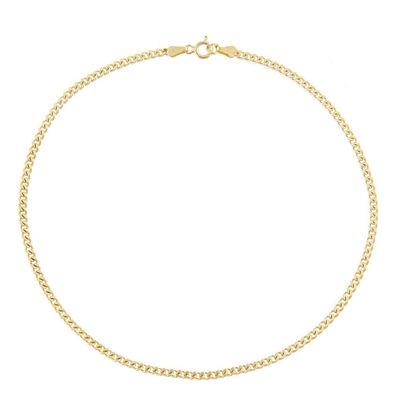 Cuban Anklet Gold - Adina's Jewels