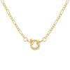 Gold Toggle Figaro Necklace - Adina's Jewels