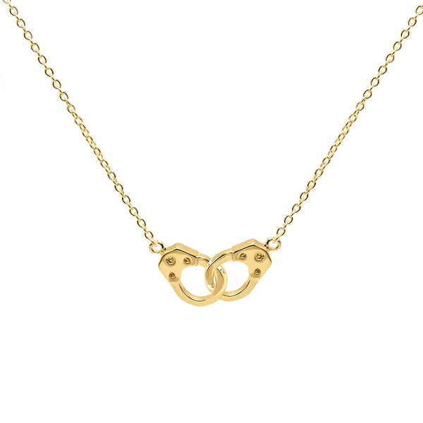Gold Handcuff Necklace - Adina's Jewels
