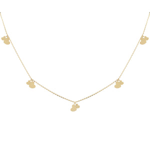Dangling Hearts Necklace 14K  - Adina's Jewels