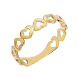 14K Gold / 8 Open Heart Ring 14K - Adina's Jewels
