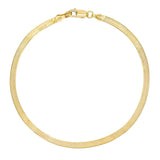 Gold Herringbone Anklet - Adina's Jewels