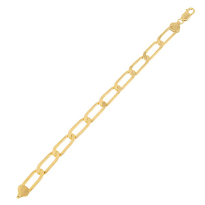 Twisted Paperclip Link Bracelet Gold - Adina's Jewels