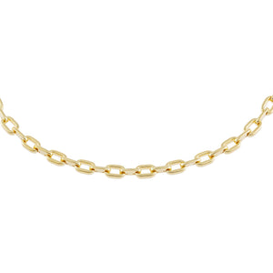 Gold Chunky Oval Link Choker - Adina's Jewels