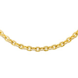 Pavé Circular Link Necklace Gold - Adina's Jewels
