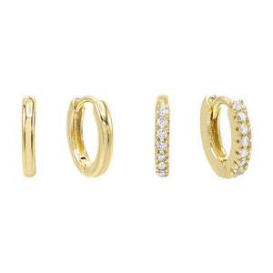 Mini Huggie Earring Combo Set - Adina's Jewels