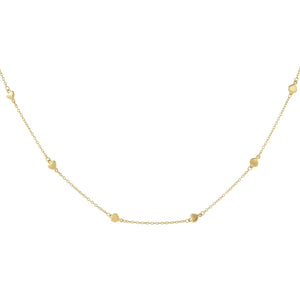 Mini Hearts Necklace 14K 14K Gold - Adina's Jewels