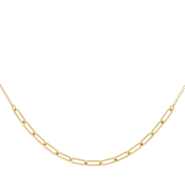 Link X Chain Choker 14K 14K Gold - Adina's Jewels