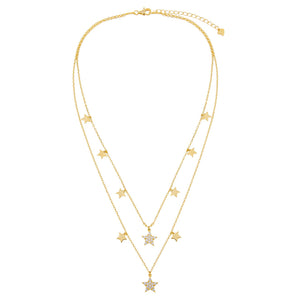 Two In One Stars Necklace/Choker - Adina's Jewels