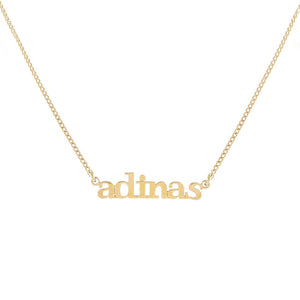 Gold Mini Lowercase Nameplate Necklace - Adina's Jewels