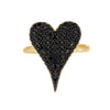 Pavé Onyx Heart Ring  - Adina's Jewels