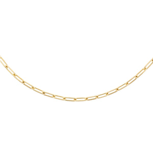 "Gold / 3 MM / 17"" Oval Link Necklace - Adina's Jewels"