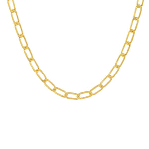 "Gold / 18"" / 6 MM Twisted Paperclip Necklace - Adina's Jewels"