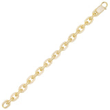 Gold Pavé Chain Link Bracelet - Adina's Jewels