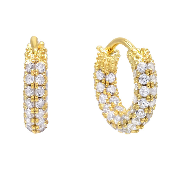 Gold Mini Pavé Hoop Earring - Adina's Jewels