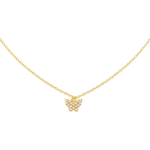 Pearl White Pearl Dainty Butterfly Necklace - Adina's Jewels