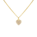 Pearl White Pearl Dainty Heart Necklace - Adina's Jewels