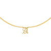 Cuban Old English Necklace Gold / A - Adina's Jewels