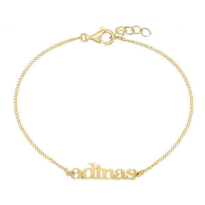 Gold Mini Lowercase Nameplate Bracelet - Adina's Jewels