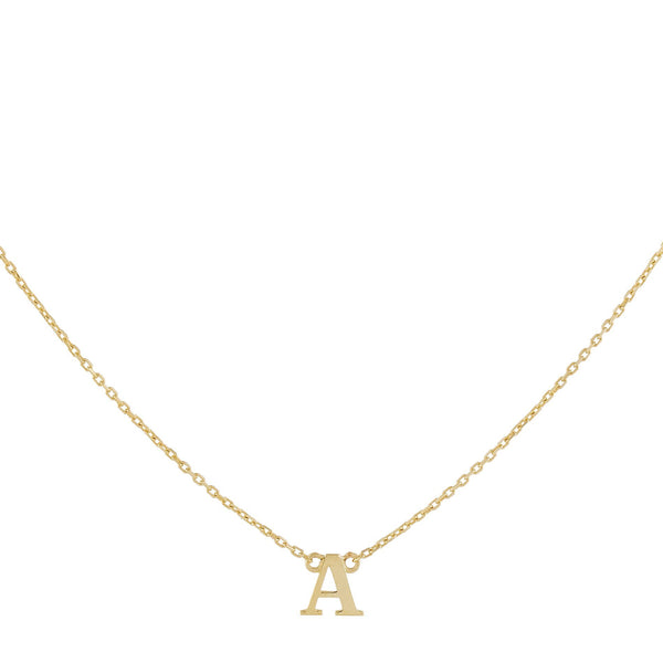 14K Gold Initial Necklace 14K - Adina's Jewels