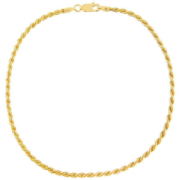Rope Chain Anklet Gold - Adina's Jewels