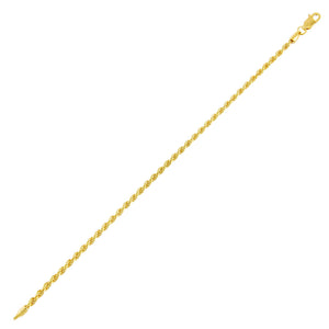 Gold / 2.5 MM Rope Chain Bracelet - Adina's Jewels