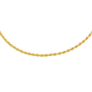 "Gold / 2.5 MM / 15"" Rope Chain Necklace - Adina's Jewels"