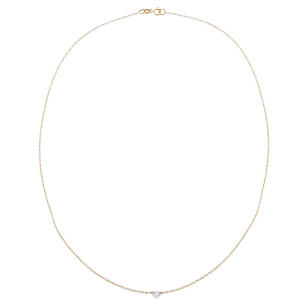 Floating Round Diamond Necklace 18K - Adina's Jewels