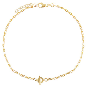 Gold Toggle Link Anklet - Adina's Jewels