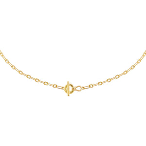Gold Dainty Toggle Link Choker - Adina's Jewels