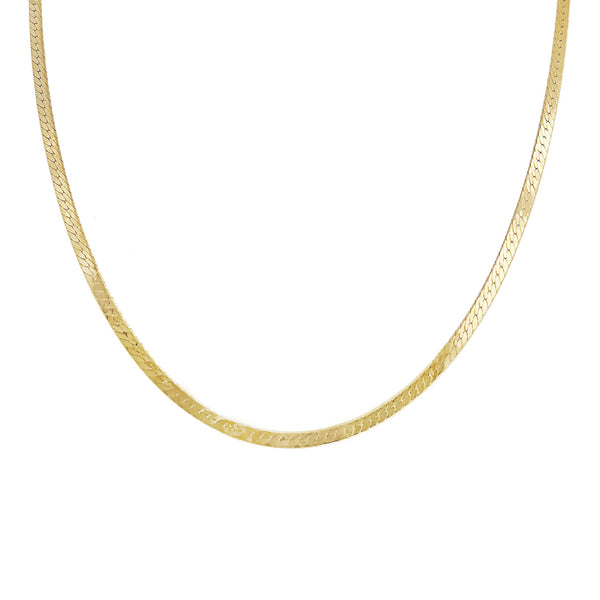 Gold Snake Chain Necklace - Adina's Jewels