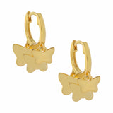 Gold Multi Butterfly Huggie Earring - Adina's Jewels
