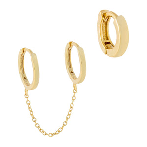 Combo Solid Cartilage X Huggie Earring Combo Set - Adina's Jewels