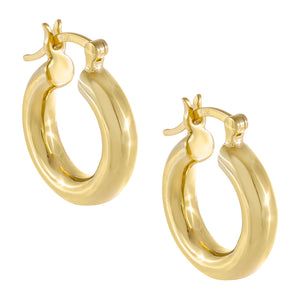 Gold Mini Tube Hoop Earring - Adina's Jewels
