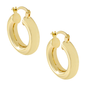 Gold / 20 MM Adina's Chunky Hollow Hoop Earring - Adina's Jewels