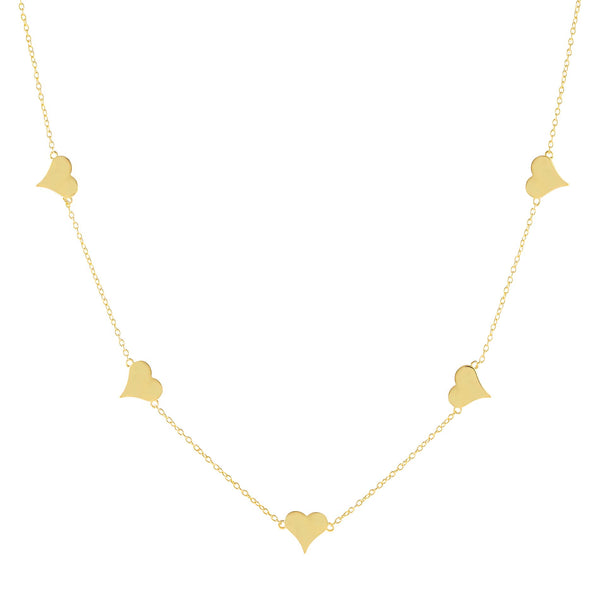 Gold Multi Heart Necklace - Adina's Jewels
