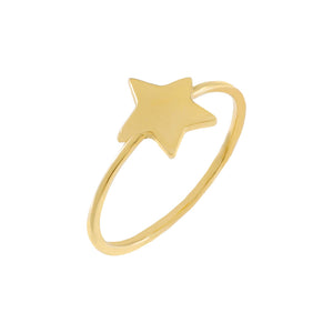 14K Gold / 6 Star Ring 14K - Adina's Jewels