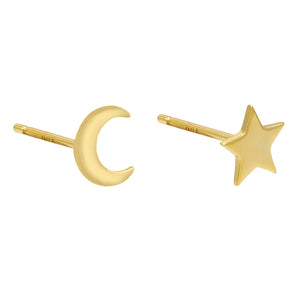 Gold Celestial Stud Earring - Adina's Jewels