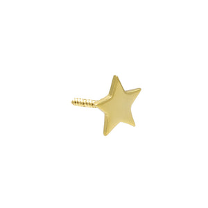 14K Gold / Single Tiny Star Stud Earring 14K - Adina's Jewels