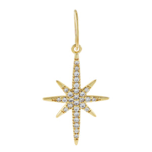 Pavé Starburst Charm Gold - Adina's Jewels